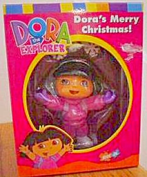 2003 Nick Jr. Dora The Explorer Holiday Ornament Dora's Merry Christmas Axor-021j Ag