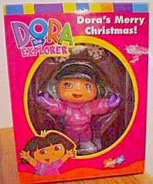 2003 NICK JR. DORA THE EXPLORER HOLIDAY ORNAMENT DORA'S MERRY CHRISTMAS! AXOR-021J AG (Image1)