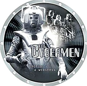The Doctor Who Dr. #4 CYBERMEN Series L. E. Collectors Plate Cards Inc. Chararacters (Image1)