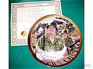 Bravery Under Fire JOHN WAYNE Patriotic Military Army God Bless America R. Tanenbaum (Image1)