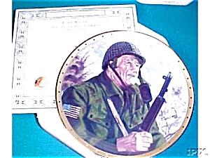 Salute to Soldier JOHN WAYNE Patriotic Military Army God Bless America Tanenbaum Flag (Image1)