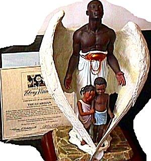 THE GUARDIAN EBONY VISIONS Thomas Blackshear 1997 Zeta Edition Retired Angel (Image1)