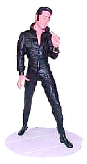 Elvis Presley 5in Figure Figurine King of Rock and Roll 1968 Comeback Special Edition (Image1)