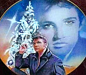 1992 Bradex Delphi Elvis Hit Parade Blue Xmas