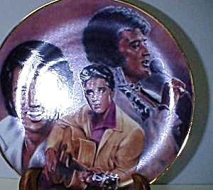 Elvis Remembered Plate 1989 #8 Susie Morton Series ELVIS PRESLEY Hamilton Collection (Image1)