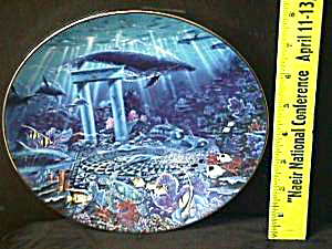 Enchanted Seascapes OASIS OF THE GODS Artist J. Enright Hamilton Collection 1994 Fish (Image1)