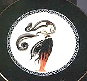 Erte FLAMES D'AMOUR Fires Of Love A3053 Mikasa Japan Bone China 12in deTirtoff Deco D (Image1)