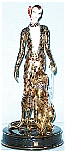Lady With LEOPARD Franklin Mint Porcelain Figure House of Erte Sevenarts Ltd.Art Deco (Image1)