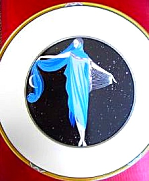 Erte Moonlight Mikasa UH200 Bone China Germany 7 Arts Deco Charger Romaine d'Tirtoff (Image1)