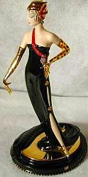 UNTAMED BEAUTY LEOPARD GLOVE Franklin Mint Figure House O Erte Sevenarts Art Deco MIB (Image1)