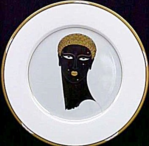 Erte Queen Of Sheba A3253 1987 Bone China Japan Mikasa Art Deco Black African Negro