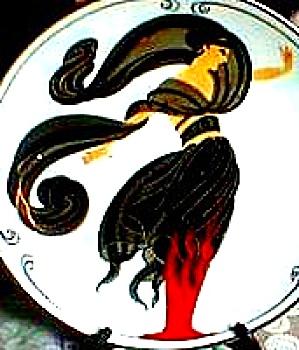 1993 FLAMES OF LOVE D'AMOUR House Of Erte Sevenarts 7 Art Deco Franklin Elegance GERM (Image1)