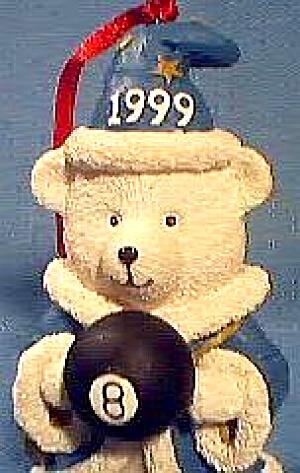 1999 Marshall Field's Chicago Hudson FIFTEEN YEARS Santa Bear Merlin Wizard 8 ball ma (Image1)