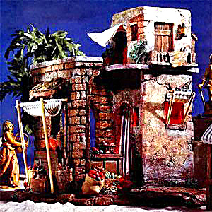 Roman Fontanini Lighted Marketplace Nativity Village Resin 1997 #50255 5 inch Series (Image1)