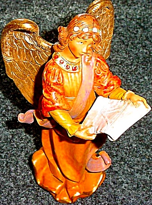 1995 Fontanini FAITH THE FIFTH 5th ANGEL CLUB MEMBER ONLY Art: E.Simonetti MIB 65283 (Image1)