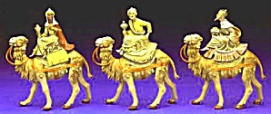 1983 RETIRED 3 THREE KINGS ON CAMELS FIGURES #51514 4 5 in. Balthazar Gaspar Melchior (Image1)