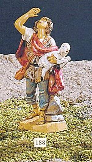 MICAH Shepherd Shepard Fontanini Heirloom Nativity #72558 Star David Hebrew Sheep Whi (Image1)