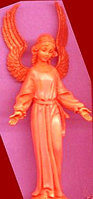 Fontanini STANDING ANGEL 5 inch Pink 1970s? #52519 NB NC E. Simonetti Italy Nativity (Image1)