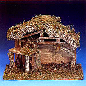 Roman Fontanini 5 Inch Nativity Series #50090 1998 Italian Stable with Corral Retired (Image1)