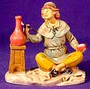 5 inch #75504 Man Painting Pot Potter Signed by Marco Fontanini Heirloom Nativity '98 (Image1)