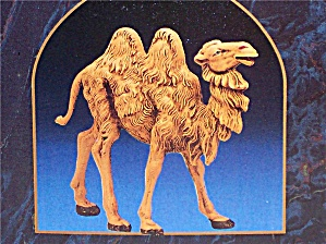 5 Inch Nativity Series STANDING CAMEL #52544 Fontanini 1983 Italy Resin 2 humps 1992 (Image1)