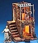Fontanini Lighted Nativity Village Inn 5 pc Starter Set 54501 Thaddeus Elizabeth 2002 (Image1)