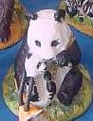 GIANT PANDA & Baby #B11RM90 Endangered Mother Jennifer Schmidt FRANKLIN MINT Animals (Image1)