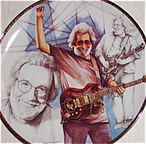 Gartlan JERRY GARCIA Black & White Study With A Touch Of Gray LG Taylor Grateful DEAD (Image1)