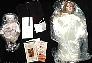 Phyllis Parkins Alyssa Guardian Angel Baby Doll Hamilton W Stands Miob Wood Base Cert