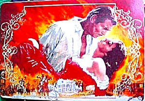 Fire & Passion : Gone With The Wind Hamilton Collection Porcelain Trading Card w/COA (Image1)