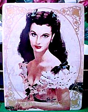 Portrait of Scarlet Gone With The Wind Hamilton Collection Porcelain Card w/COA GWTW (Image1)