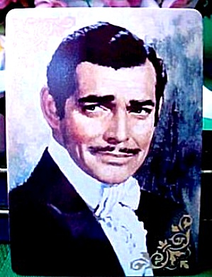 Portrait of Rhett  Gone With The Wind Hamilton Collection Porcelain Trading Card COA (Image1)