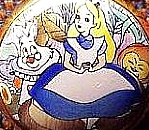 HALCYON DAYS ALICE IN WONDERLAND MINI POCKETWATCH Enamels Copper Bilston Battersea 1 (Image1)
