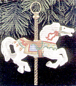 Tobin Fraley Carousel Hallmark QX550-2 QX5502 #2 White Horse NRFB Charles Looff (Image1)