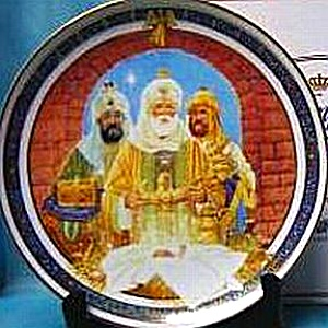 1989 Royal Windsor We Three Kings U.S. Historical Society Christmas Carol Plate Magi (Image1)