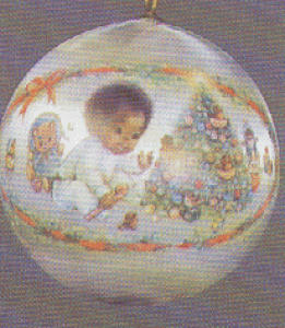 '80-QX229-4 BABY'S 1ST XMAS AFRICAN AMERICAN (Image1)