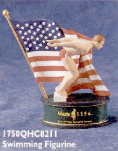 Hallmark Atlanta 1996 Olympics Swimming Figure Centennial Spirit Qhc821-1 Collection