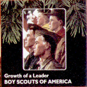 Hallmark 1996 QX554-1 Boy Scouts Of America Growth a Leader Norman Rockwell BSA Eagle (Image1)