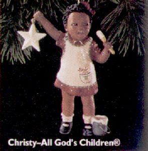 All God's Children 1 Christy Ornament Miss Martha Holcomb Negro Black AfricanAmerican (Image1)