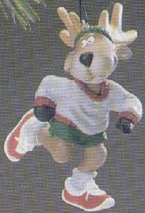 QX422-3 Reindeer Champs #1Dasher 86' SPORTS SCULPTED Bob Siedler QX4223 Marathon (Image1)