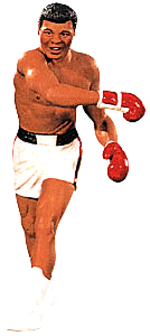 1999 QXI414-7 Muhammad Ali SPORTS Duane Unruh Boxing Rope-A-Dope 'I Am The Greatest' (Image1)