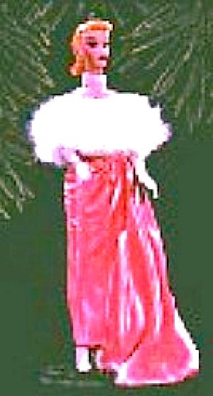1996 QXI654-1 ENCHANTED EVENING BARBIE #3 Pink Gown Ensemble Pat Andrews 1960-1963 96 (Image1)