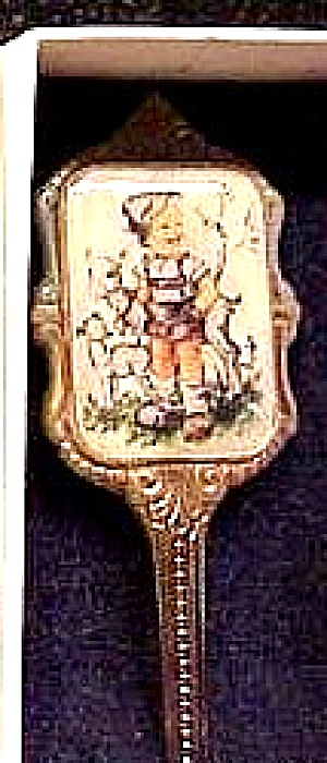 Boy Backpack Sheep Lamb Silver Pl. Spoon Ars Sacra Joseph Mueller Munich Germany (Image1)