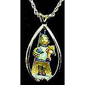 What Now? Hummel Goebel Robert Olszewski Miniature Necklace # 2900 Mold # WNNCC (Image1)