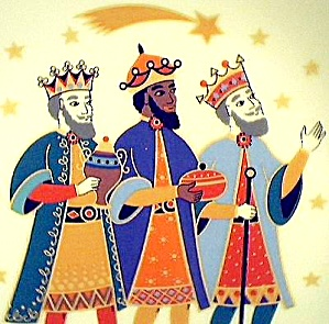 HUTSCHENREUTHER 3 KINGS THREE WISE MEN Germany 1814 Caspar Melchior Balthasar Barbara (Image1)