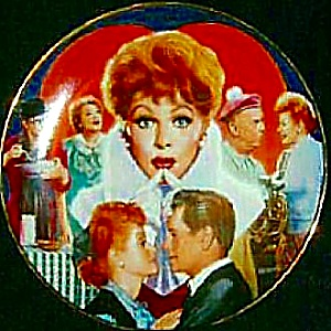 Official Lucille Ball Commemorative 10 1/4 In. Plate I Love Lucy Morgan Weistling