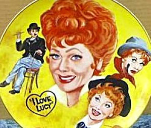 LUCILLE BALL TRIBUTE I LOVE LUCY Mike Hagel Collage 10 1/4 Yellow Royal Manor Hobo Pl (Image1)