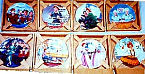 8 I Love Lucy Kritz Plate Set Complete Bx/coa