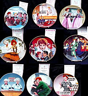 8 I LOVE LUCY PLATE SET+COMMEMORATIVE COMPLET (Image1)