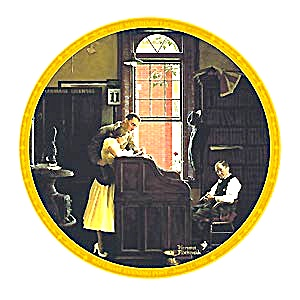 Marriage License : Norman Rockwell Saturday Evening Post June 1955 Engaged Engagement (Image1)